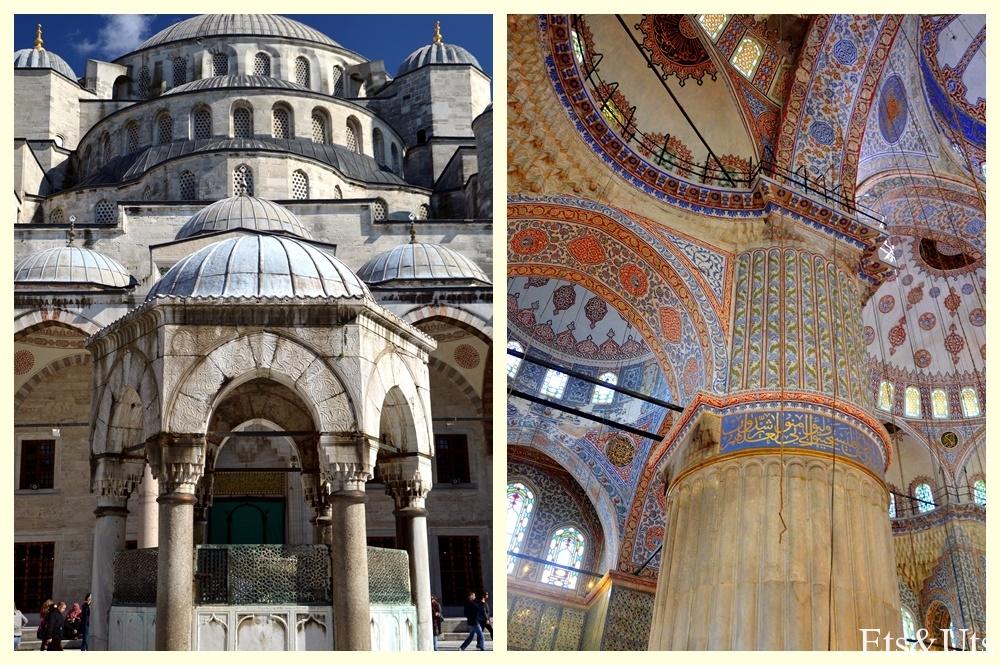 Detalles de la Mezquita Azul