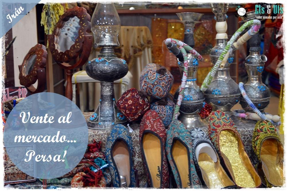 Zapatos, iran, shiraz, mercado persa, bazar