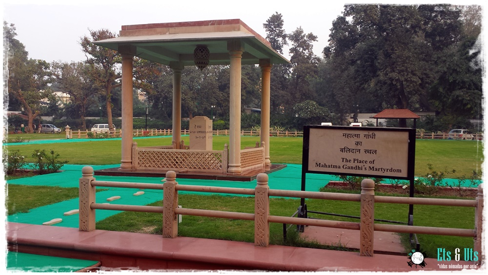 Lugar donde murió Gandhi Delhi india