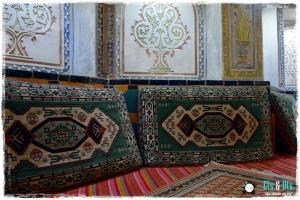 Detalle de los textiles del Hammam... siendo iraní, no podían ser menos que obras de arte