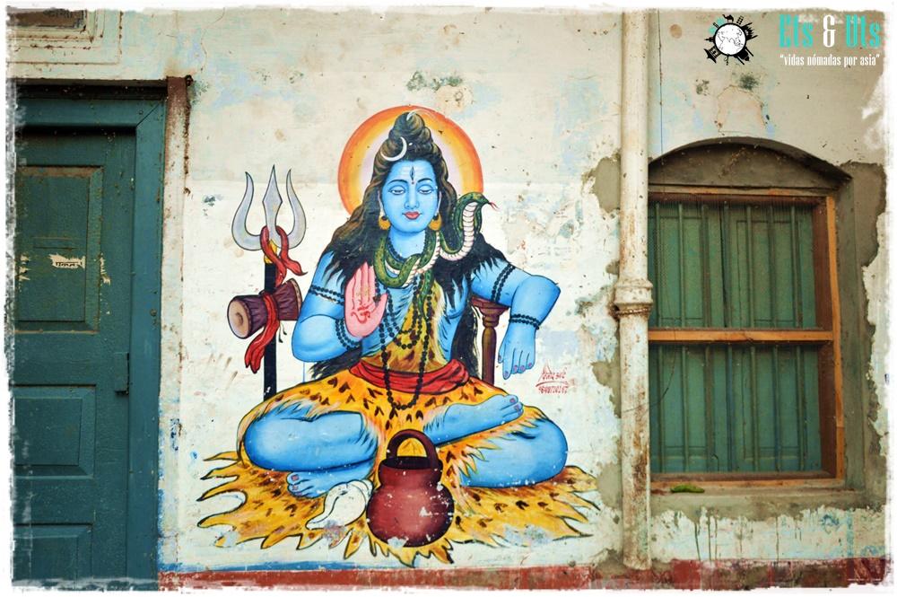 Dibujo de Shiva, Varanasi, India