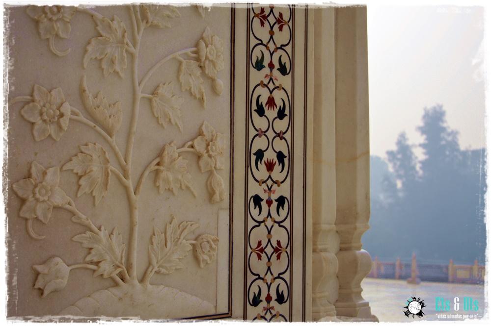 Mosaico del Taj Mahal en Agra India